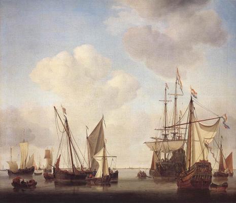Виллем ван де Вельде Младший. Сюжет 5
