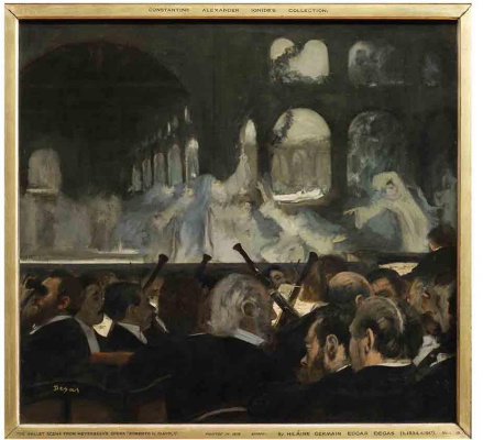 "Edgar Degas. A scene from the ballet ""Robert the devil"""