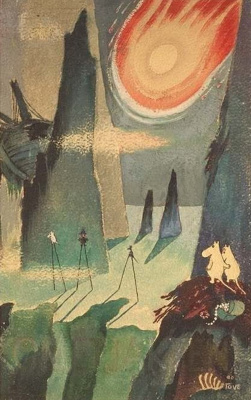 "Tove Jansson. Illustration for the story of T. Jansson ""Moomin troll and comet"""