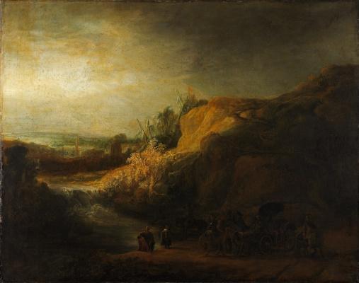 Rembrandt Harmenszoon van Rijn. Landscape with the baptism