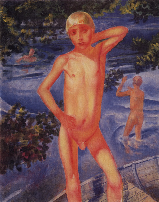 Kuzma Sergeevich Petrov-Vodkin. Bathing boys