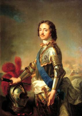 Jean-Marc Nattier. Portrait of Peter I in knightly armor
