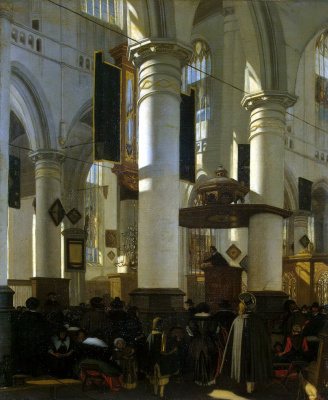 Emmanuel de Witte. Interior view of the Church