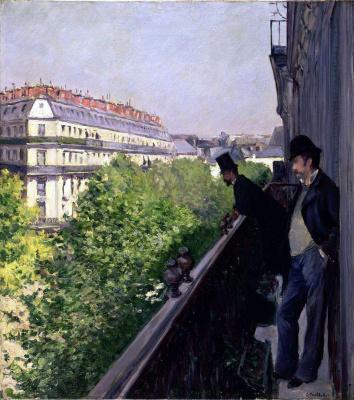 Gustave Caillebotte. A balcony, Boulevard Haussmann