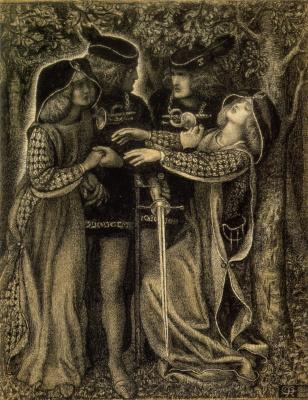 Dante Gabriel Rossetti. Meeting