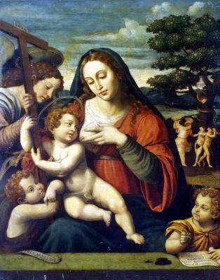 Хоан де Хоанес. Богоматерь с Младенцем Христом