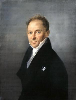 Karl Wilhelm Bardou. Portrait of a man