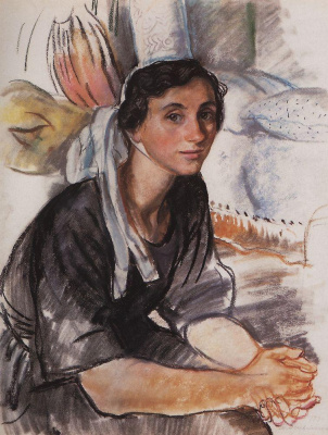 Zinaida Yevgenyevna Serebriakova. A young Breton
