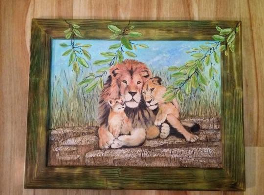 Irina Morvaniuk. Lions in the Savannah