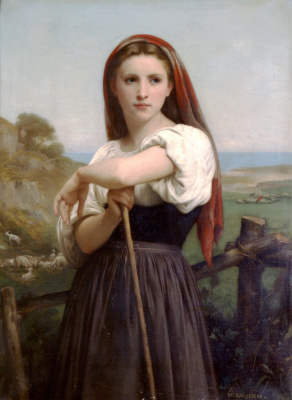 William-Adolphe Bouguereau. Young cowgirl