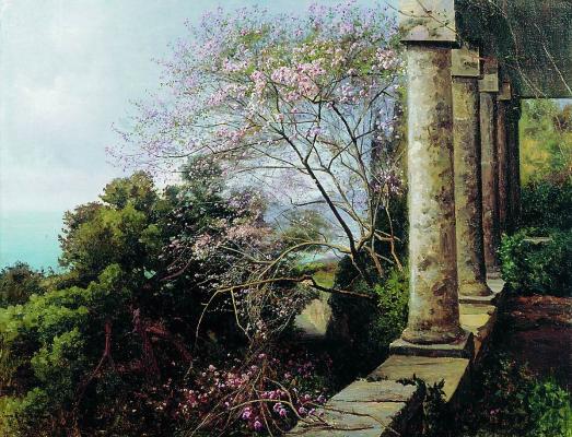 Joseph Evstafievich Krachkovsky. Crimean landscape. Tomsk Regional Art Museum.