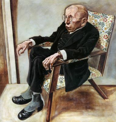 George Grosz. Portrait of the poet max Herman-Neisse