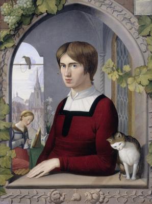 Johann Friedrich Overbeck. Portrait of the artist Franz Pforra. Picture Gallery of Old Masters, Berlin