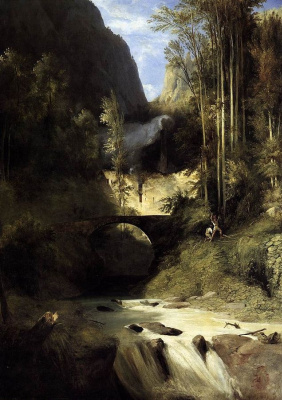 Carl Eduard Ferdinand Blechen. Gorge at Amalfi