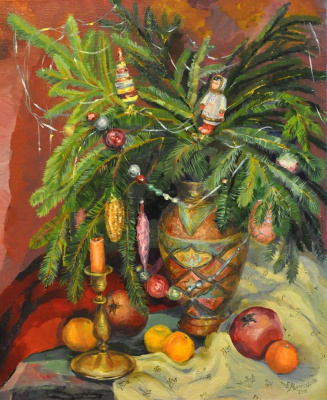 In anticipation of the holiday. Christmas still life.