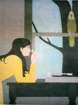 Will Barnet. The girl in yellow
