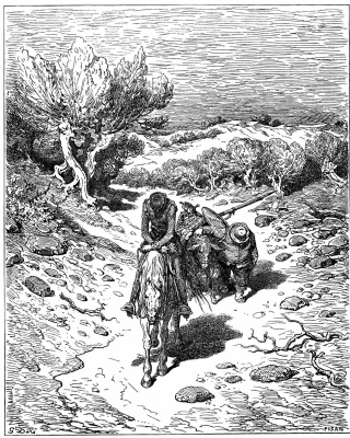 Paul Gustave Dore. Illustration for Cervantes' novel Don Quixote