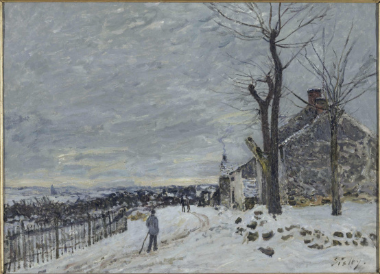 Альфред Сислей. Снег в Венё-Надон