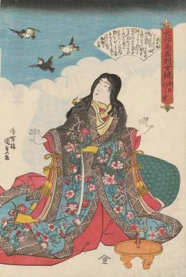 """Утагава Кунисада. Юная Мурасаки. Серия """"Известные женщины Японии, достойные подражания"""""""