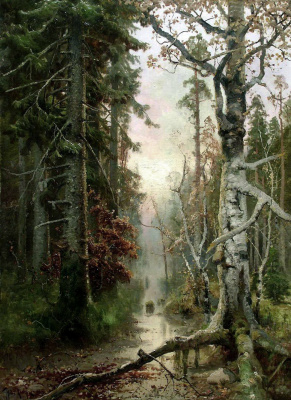 Julius Klever. Autumn in the forest