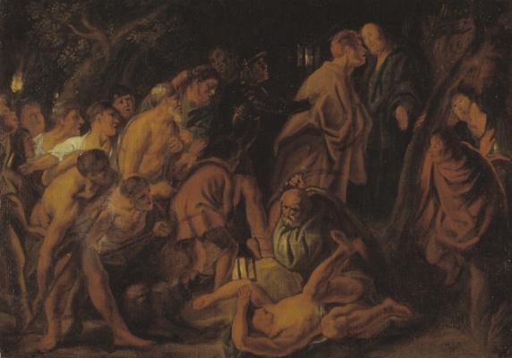 Jacob Jordaens. Betrayal and the arrest of Christ in Gethsemane