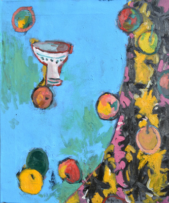 Alexandr Petelin. Fruits on blue
