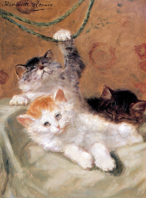 Генриетта Роннер-Книп. Три котенка играют