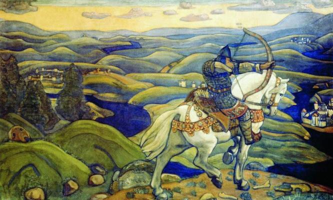 Nicholas Roerich. Ilya Muromets (decorative panels)