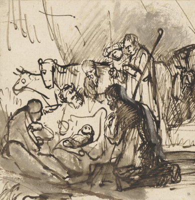 Karel Fabricius. The adoration of the Magi. Sketch