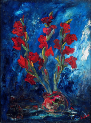 Haim Solomonovich Soutine. Bouquet of red gladioli