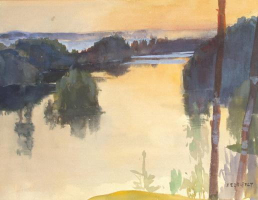 Albert Gustav Aristide Edelfelt. Landscape