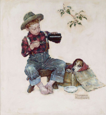 Norman Rockwell. The mysterious disease