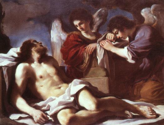 Джованни Франческо Гверчино. Ангелы плачут над мертвым Христом