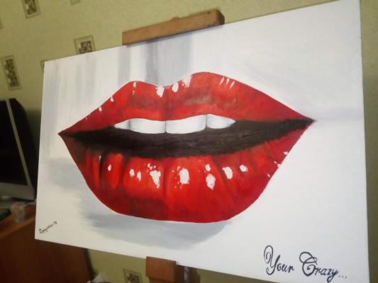 Tatyana Leonidovna Gerdauskene. Juicy lips