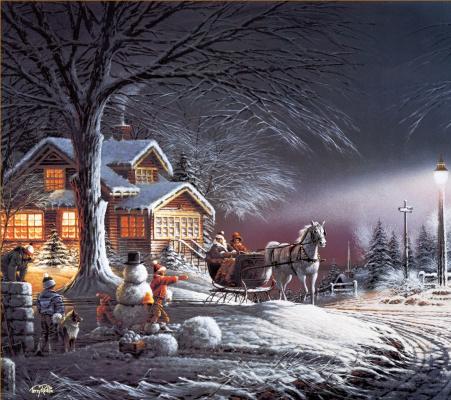 Терри Редлин. Зимний пейзаж