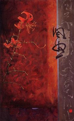 Дон Легер. Красные цветы