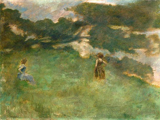 Thomas Wilmer Dewing. The plot 11
