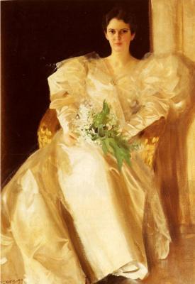 Anders Zorn. Portrait of Mrs. Eben Richards