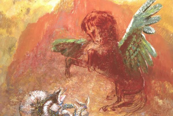 Odilon Redon. Pegasus and Hydra