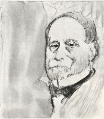 Edgar Degas. A man with a short beard