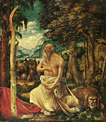 Albrecht Altdorfer. The penitent St. Jerome