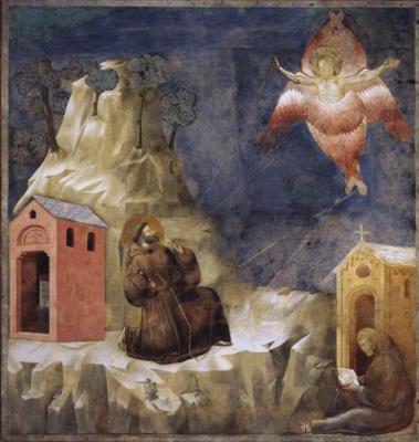 Giotto di Bondone. Stigmatization of St. Francis. The Legend of St. Francis