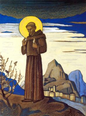 Nicholas Roerich. St. Francis. Sketch