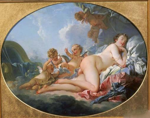 Francois Boucher. Sleeping Venus