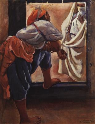 Zinaida Serebryakova. Morocco. The figures in the doorway