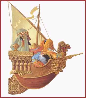 James Christensen. Wise Menin in the boat