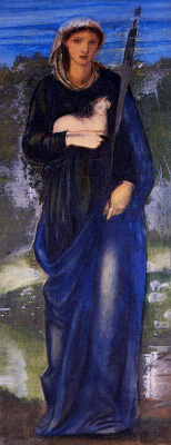 Edward Coley Burne-Jones. Saint Agnes