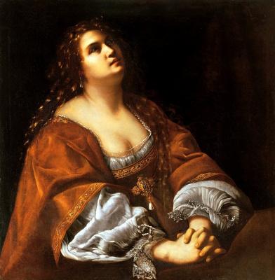 Артемизия Джентилески. Святая Мария Магдалина в покаянии