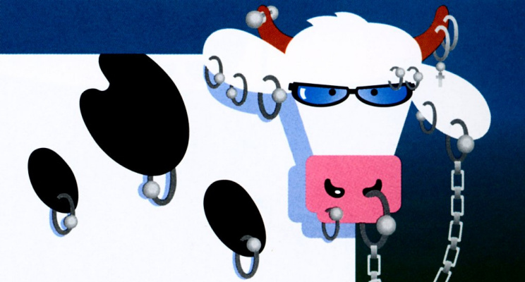Инк Ковс. Корова с пирсингом
