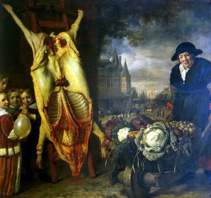 Бартоломеус ван дер Гельст. Новый рынок в Амстердаме